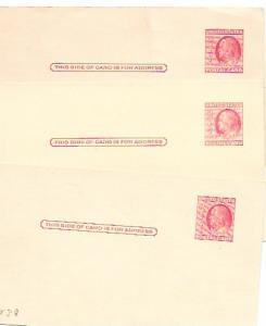 US  Pre-stamped unused Postcards UX38 Franklin