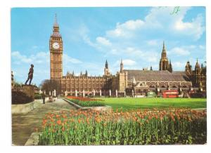 London England Big Ben Parliament Frys Postcard 1970s 4X6