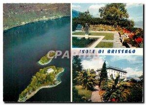 Postcard Modern Brigasso Isole di Lago Maggiore Parco Botanico del Ticino Ct