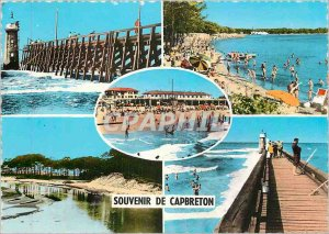 Cape Breton Modern Postcard The Pier Beach Bourret