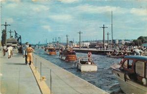 Seattle Washington~U.S Government Locks~Small Motor Boats~1962 Postcard