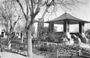 Nogales Mexico 1950s RPPC Real Photo Postcard Plaza 13 De Julio July Market