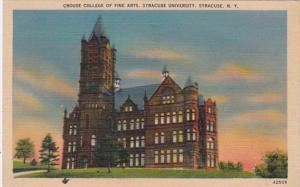 New York Syracuse Crouse College Of Fine Arts Syracuse University 1941