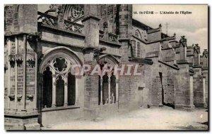 Postcard Old St Pere L & # 39Abside L & # 39Eglise