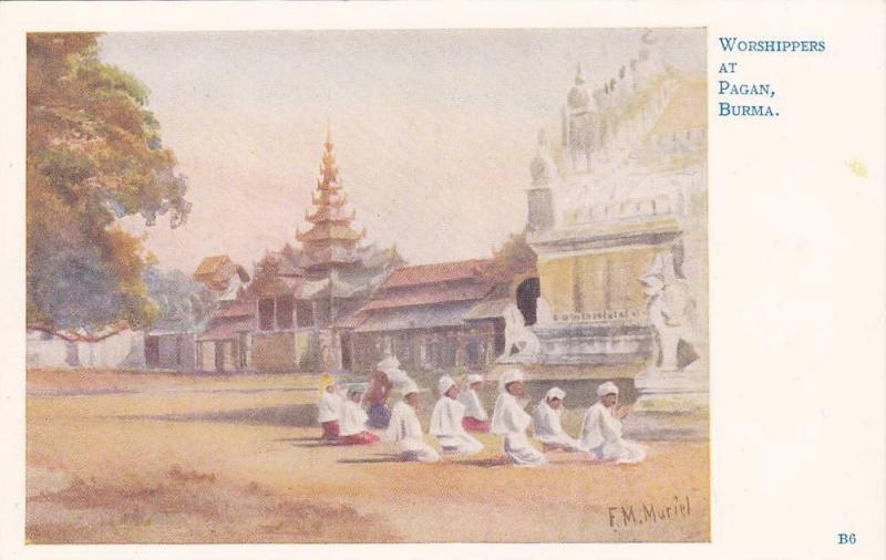 Worshippers at Pagan , Burma , 00-10s