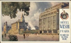 Prague Czech Hotel Wilson c1910 Postcard