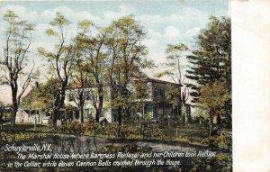 Schuylerville New York c1910 Postcard Marshall House Baroness Riedsel Refuge