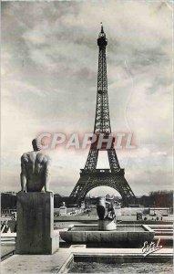 The Modern Postcard Paris Eiffel Tower seen gardens