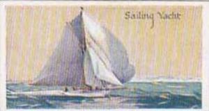 Amalgamated Press Vintage Trade Card Ships Of The World 1924 No 23 Sailing Yacht