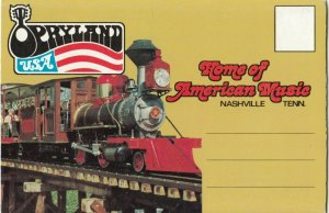NASHVILLE , Tennessee, 1950-60s ; Opryland & Amusement Park Folder Postcard