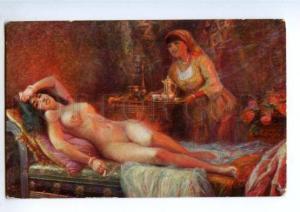 148084 HAREM Nude Belle AZIZA Slave by TAIB vintage SALON PC