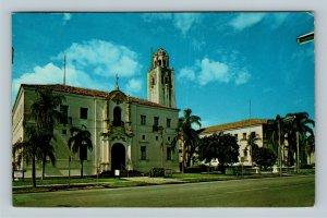 Sarasota FL, Sarasota County Courthouse, Chrome Florida c1970 Postcard