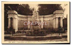Old Postcard Sens Monument Aux Morts For militaria homeland