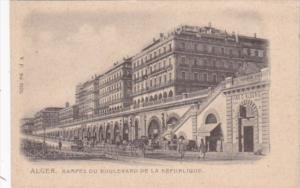 Algeria Alger Rampes Du Boulevard De La Republique Street Scene