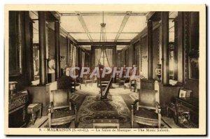 Old Postcard Malmaison The Music Room