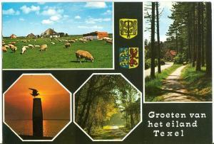 Netherlands, Groeten van het eiland Texel 1975 used Postcard