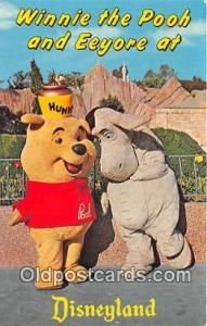 Winnie the Pooh & Eeyore Disneyland, Anaheim, CA, USA Postcard Post Card Disn...