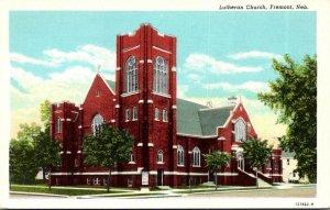 Nebraska Fremont Lutheran Church Curteich