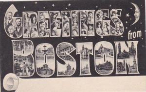Massachusetts Boston Greetings From