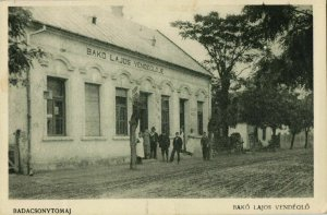 hungary, BADACSONYTOMAJ, Bakó Lajos Vendéglö (1926) Postcard