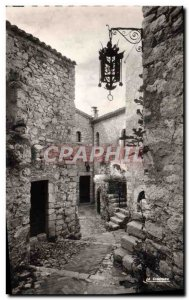 Old Postcard Eze The old village The castle of the Prince of Sweden and the o...