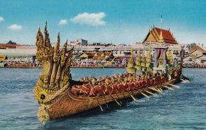BANGKOK, Thailand, 1940-60s; The 2nd Royal barge ANANTANAGARAJ