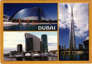 PC CPA U.A.E. DUBAI NEW FACE OF DUBAI BURJ KHALIFA REAL PHOTO POSTCARD (b16401)