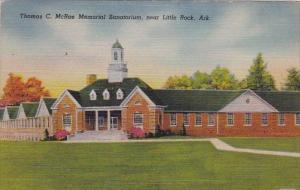 Arkansas Little Rock Thomas C Mcrae Memorial Sanatorium