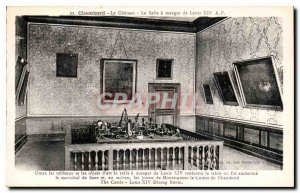 Old Postcard Chambord Castle on the Dining Room of Louis XIV Besides the tabl...