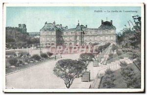 Old Postcard Paris Le Jardin du Luxemhourg