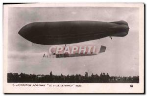 Old Postcard Airship Zeppelin Aerial Locomotion The City of Nancy in 1909