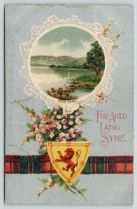 BB London~For Auld Lang Syne~Loch Earn Scotland~Scottish Heather~Plaid~Silver