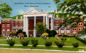 Biloxi, Mississippi - The Hotel Biloxi, overlooking the Gulf of Mexico - 1940s