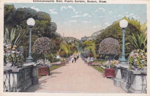 Massachusetts Boston Public Garden Commonwealth Mall