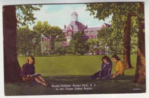 PC48 JLs postcard 1957 keuka college students ny finger lake