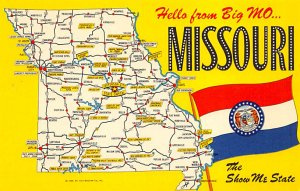 Maps Missouri USA Unused