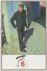 The Prisoner Bicycle Rare TV Show Postcard