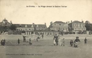 CPA Le CROTOY - La Plage devant le Casino Tellier (121407)