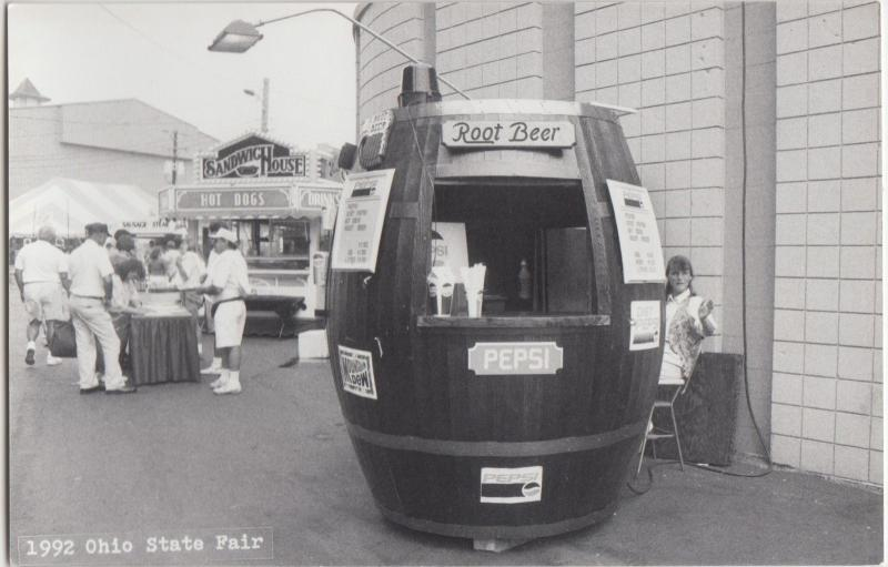 Ohio Real Photo RPPC Postcard Columbus 1992 STATE FAIR Root Beer Stand 1