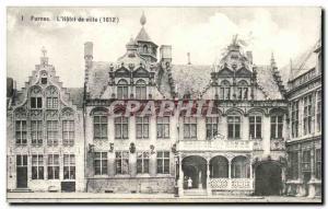 Old Postcard Furnes L & # 39hotel City (1612)