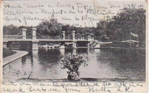 Massachusetts Boston Bridge At Public Garden 1907