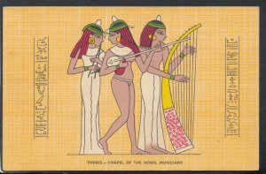 Egypt Postcard - Thebes - Chapel of The Nobel Musicians    RS20301