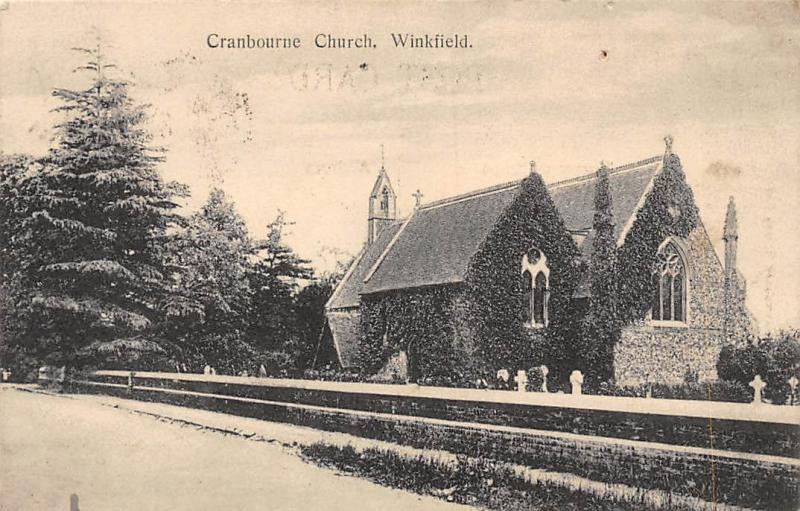 Winkfield Cranbourne Church Eglise 1911