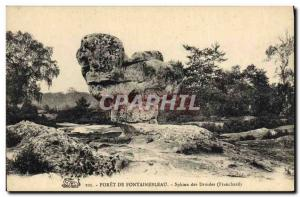Old Postcard Dolmen Menhir Forest of Fontainebleau Sphinx druids Franchard