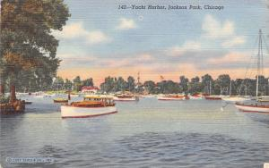 Chicago Illinois~Yacht Harbor At Jackson Park~1943 Postcard