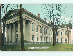 Unused Divided-Back COURT HOUSE Erie Pennsylvania PA v2869