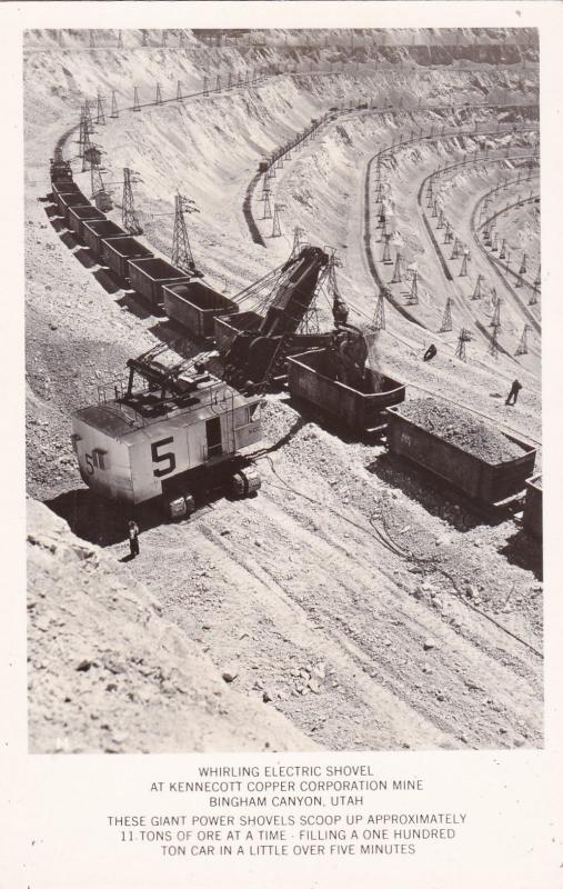 RP: Whirling Electric Shovel,Kennecott Copper Corp. Mine , BINGHAM Canyon , Utah