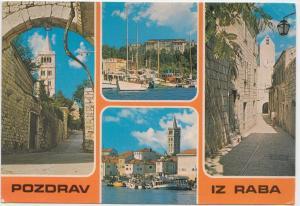 POZDRAV IZ RABA, Croatia, 1981 used Postcard
