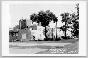 Sibley Iowa~Great Shade Trees~Osceola Co-Op Creamery Plant~RPPC Postcard