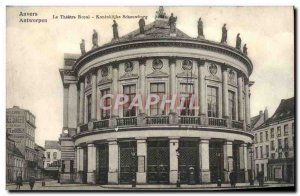 Old Postcard The Theater Royal Antwerp